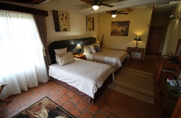 Our Rhino Room with 2 beds, for guests who don't share a bed