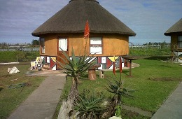 Thatch roof chalets sleep 4