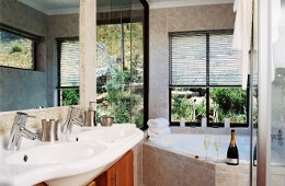 Full Bathroom with jacuzzi style bath