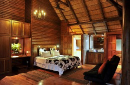 Martial Eagle Luxury Family Log Cabin Bedroom