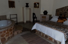 Ndebele Chalet Bedroom
