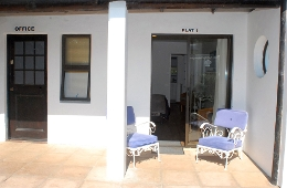 Flat 1 (downstairs) patio & entrance -  1  x Room - Sleeps 2